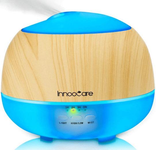 humidificador ultras/ónico con gran capacidad Queta Difusor de aromaterapia purificador de aire dom/éstico 550 ml color madera difusor de aroma silencioso y silencioso para casa y oficina